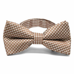 Light Brown Henry Grain Pattern Band Collar Bow Tie