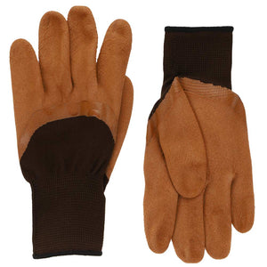 Men's brown work gloves