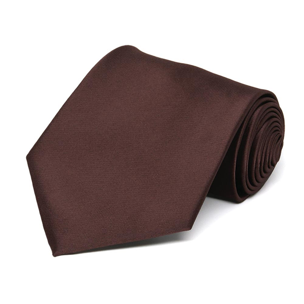 Brown Solid Color Necktie