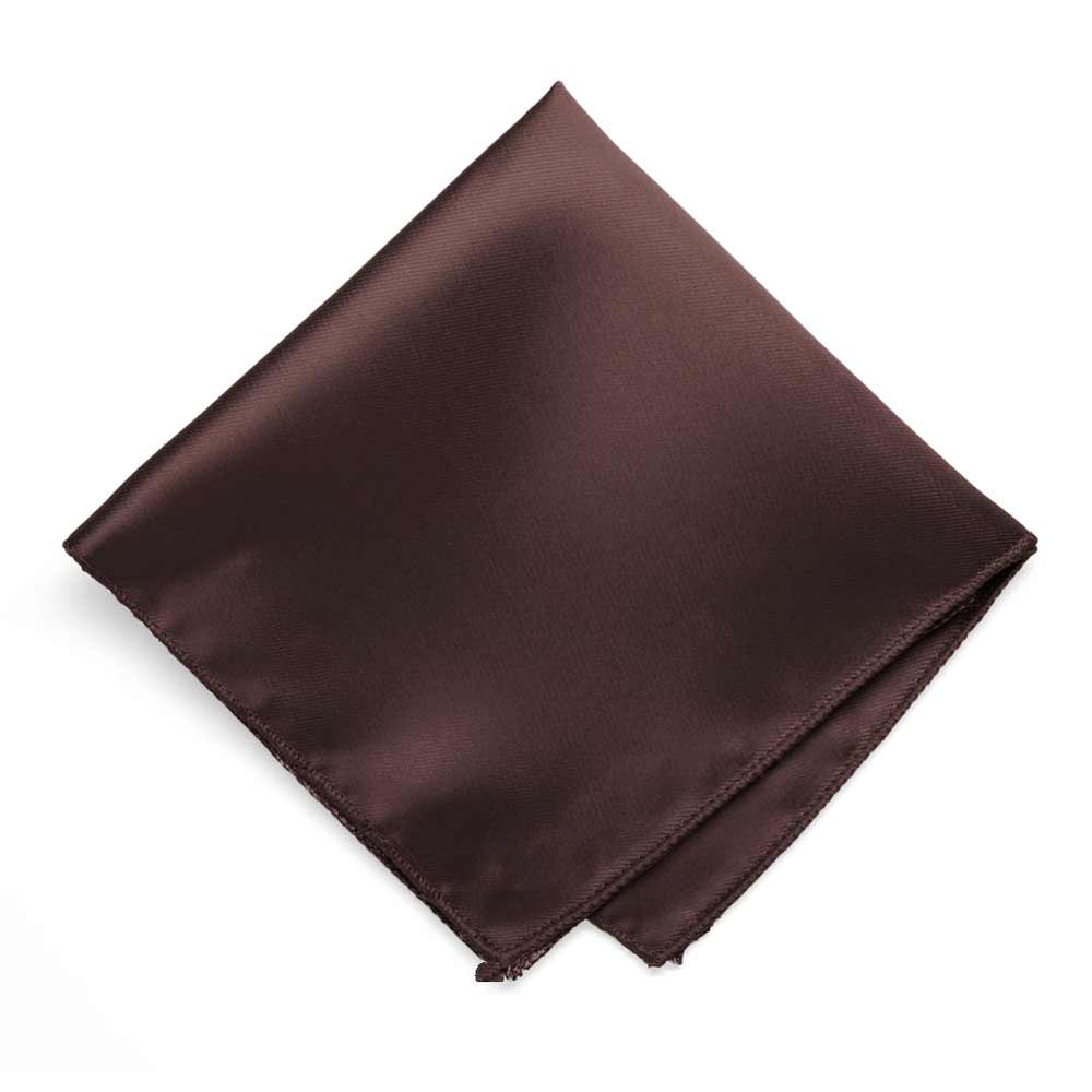 Brown Solid Color Pocket Square