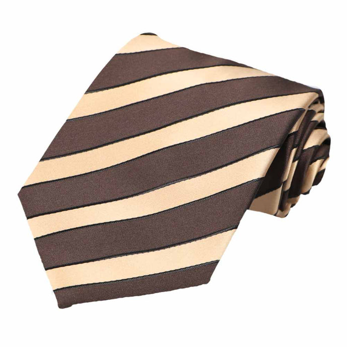 Brown Jarbridge Striped Necktie
