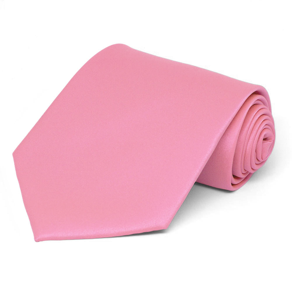 Bubblegum Pink Solid Color Necktie