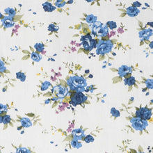 Load image into Gallery viewer, Blue and white floral fabric
