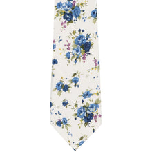 Load image into Gallery viewer, Burbank Floral Cotton Narrow Necktie
