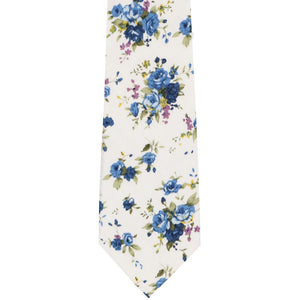 Burbank Floral Cotton Narrow Necktie