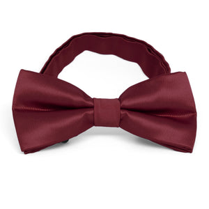 Burgundy Band Collar Bow Tie