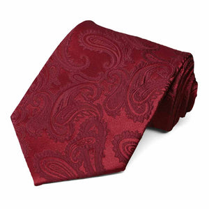 Burgundy Sutter Paisley Extra Long Necktie