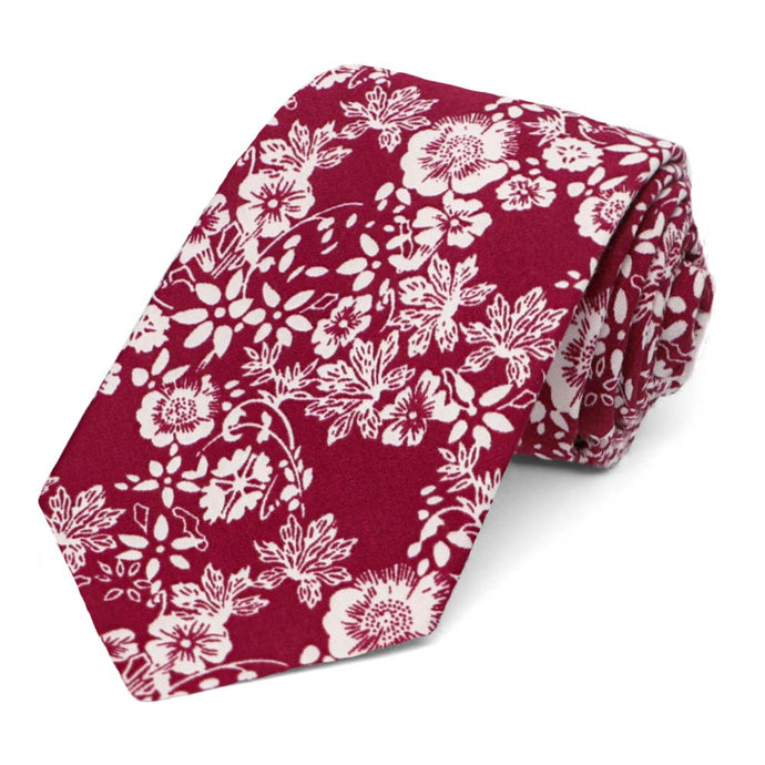 Coronado Floral Cotton Narrow Necktie