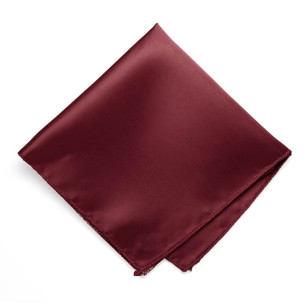 Burgundy Solid Color Pocket Square