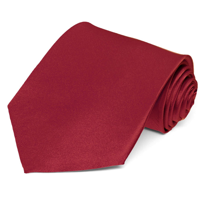 Burgundy Silk Extra Long Necktie
