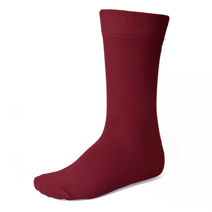 Men's Burgundy Socks
