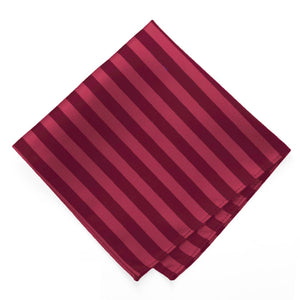 Burgundy Formal Striped Pocket Square