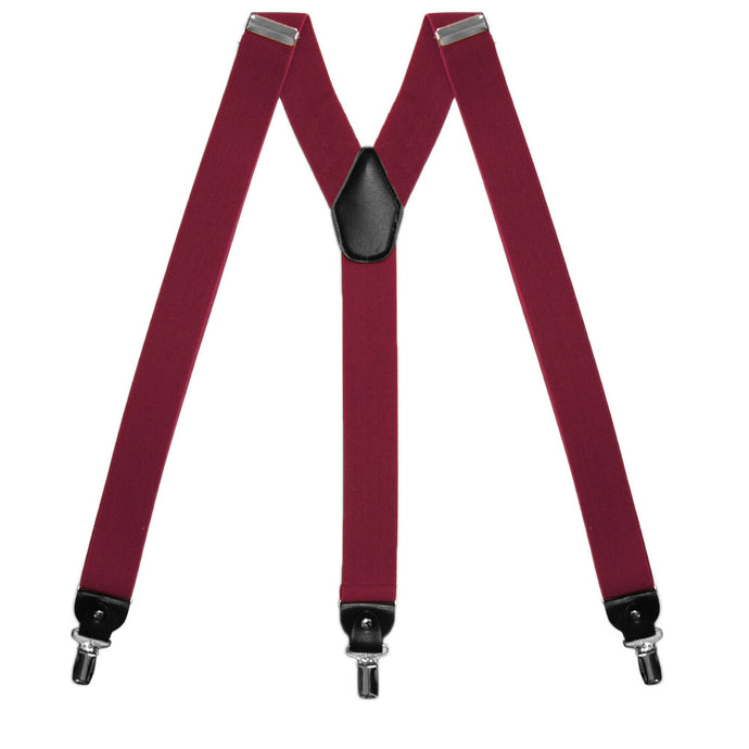 Burgundy Wide Suspenders