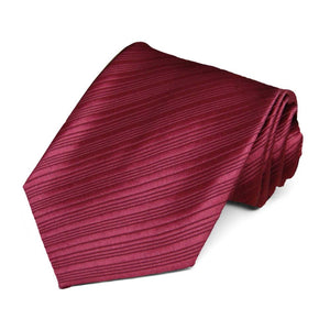 Light Burgundy Woven Ribbed Necktie