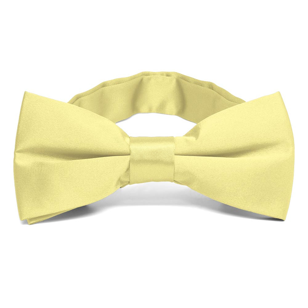 Butter Yellow Band Collar Bow Tie