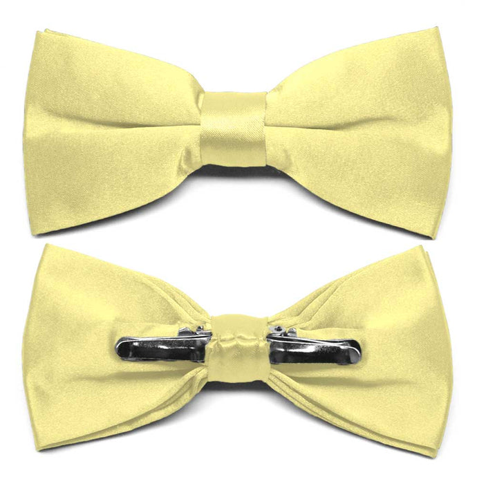 Butter Yellow Clip-On Bow Tie