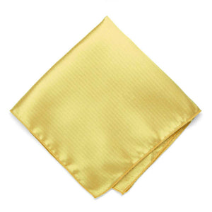 Butter Yellow Herringbone Silk Pocket Square