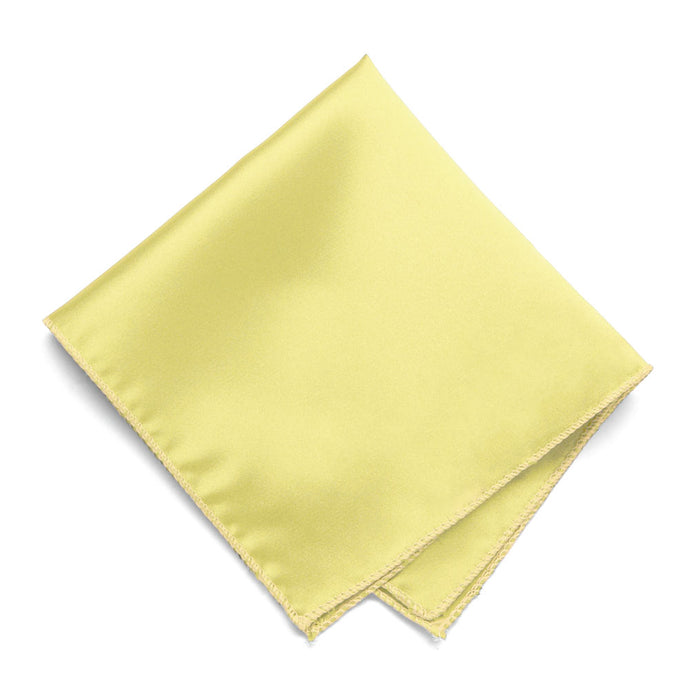Butter Yellow Solid Color Pocket Square