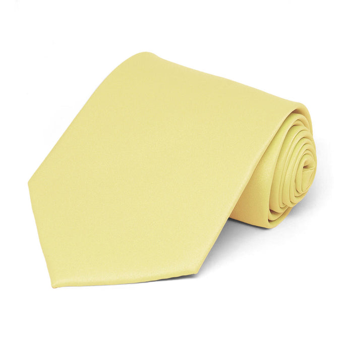 Butter Yellow Staff Tie
