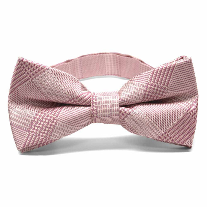Cameo Pink Michael Glen Plaid Band Collar Bow Tie