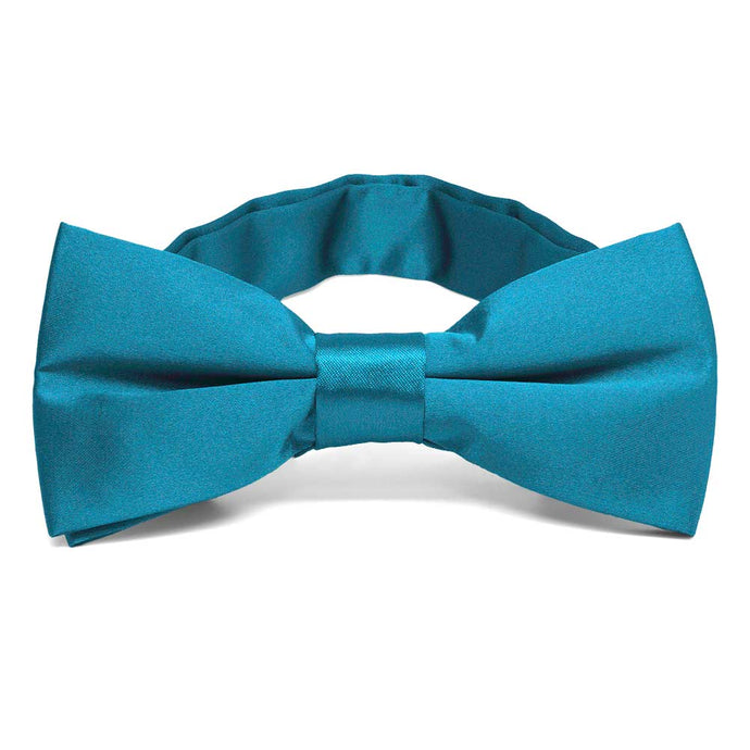 Caribbean Blue Band Collar Bow Tie