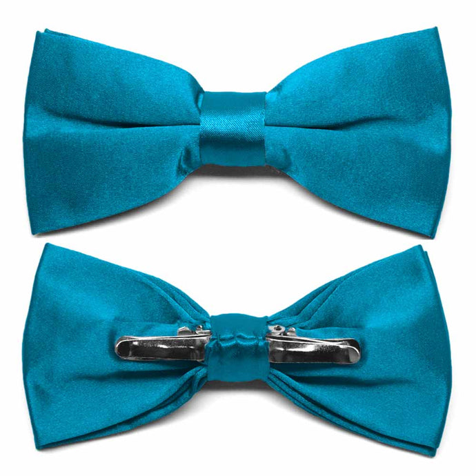 Caribbean Blue Clip-On Bow Tie