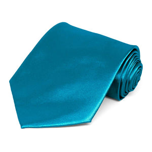 Caribbean Blue Extra Long Solid Color Necktie