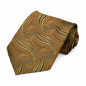 Carmel Brown Highgate Swirl Necktie