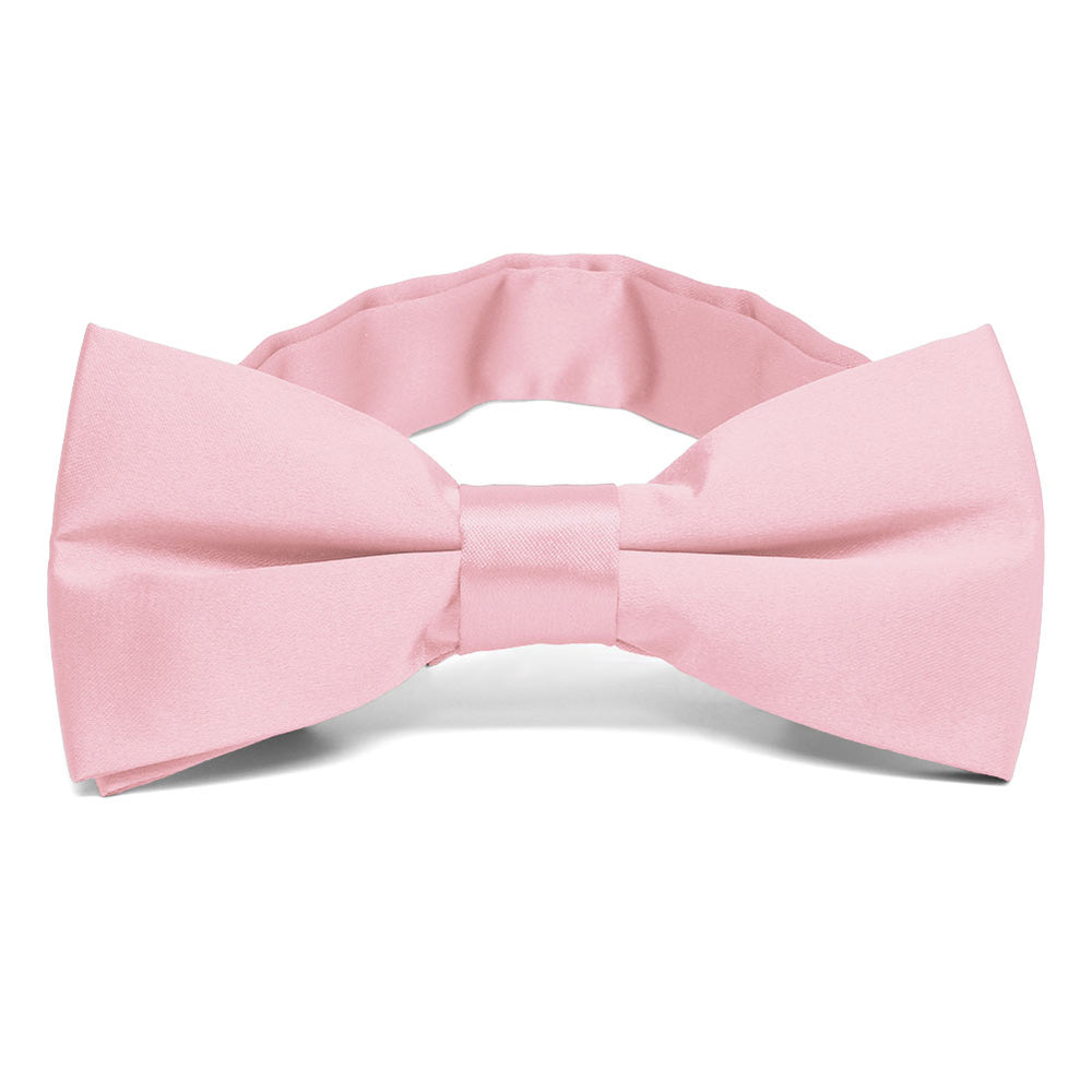 Carnation Pink Band Collar Bow Tie