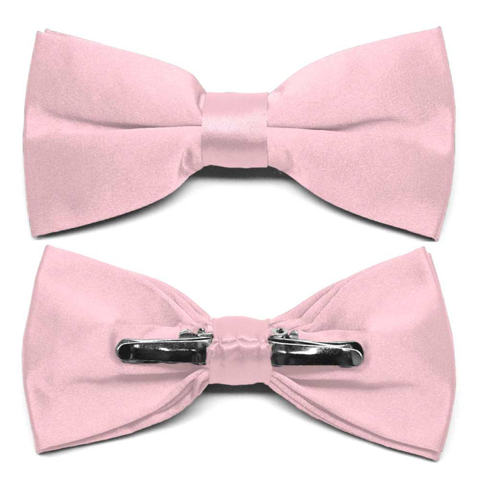 Carnation Pink Clip-On Bow Tie