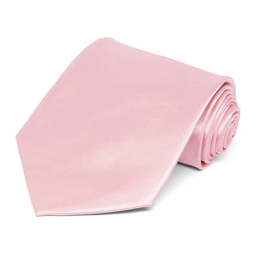 Carnation Pink Solid Color Necktie
