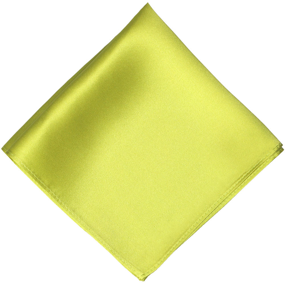 Chartreuse Silk Pocket Square