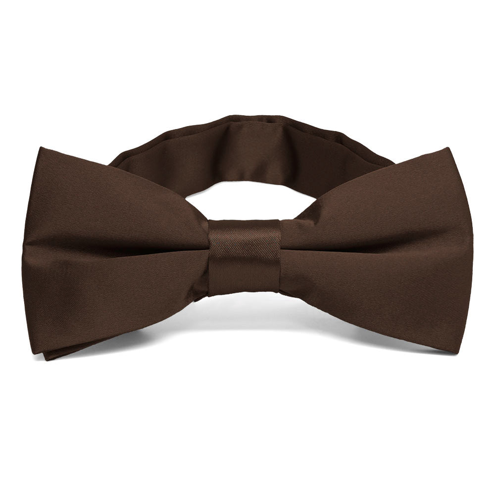 Chestnut Brown Band Collar Bow Tie
