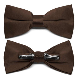 Chestnut Brown Clip-On Bow Tie