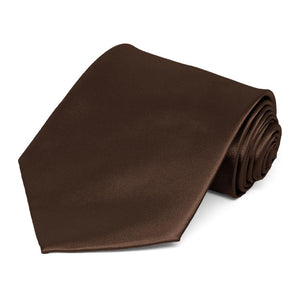 Chestnut Brown Solid Color Necktie