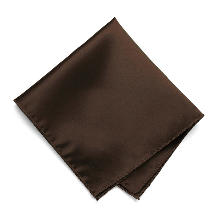 Chestnut Brown Solid Color Pocket Square