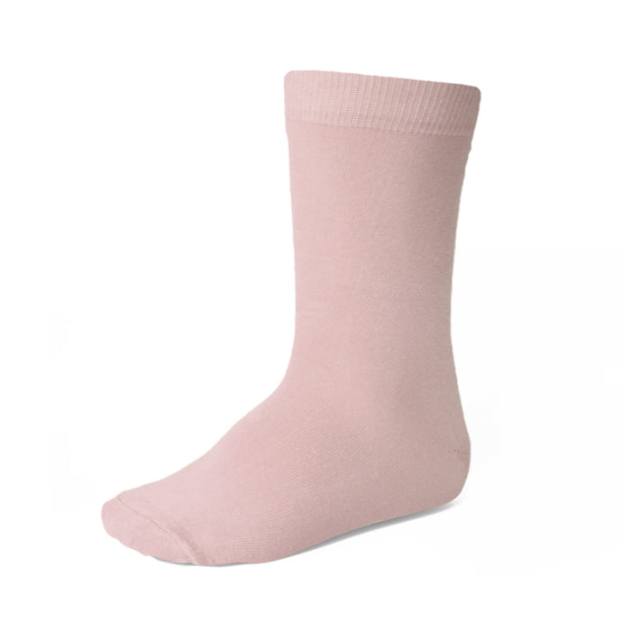 Boys' blush pink dress socks