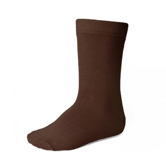 Boys' brown crew socks