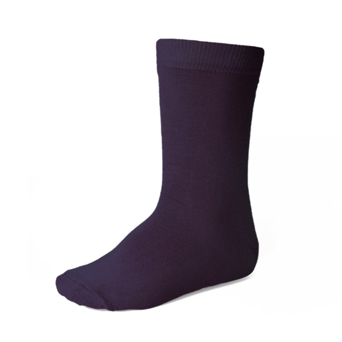 Boys' eggplant purple socks