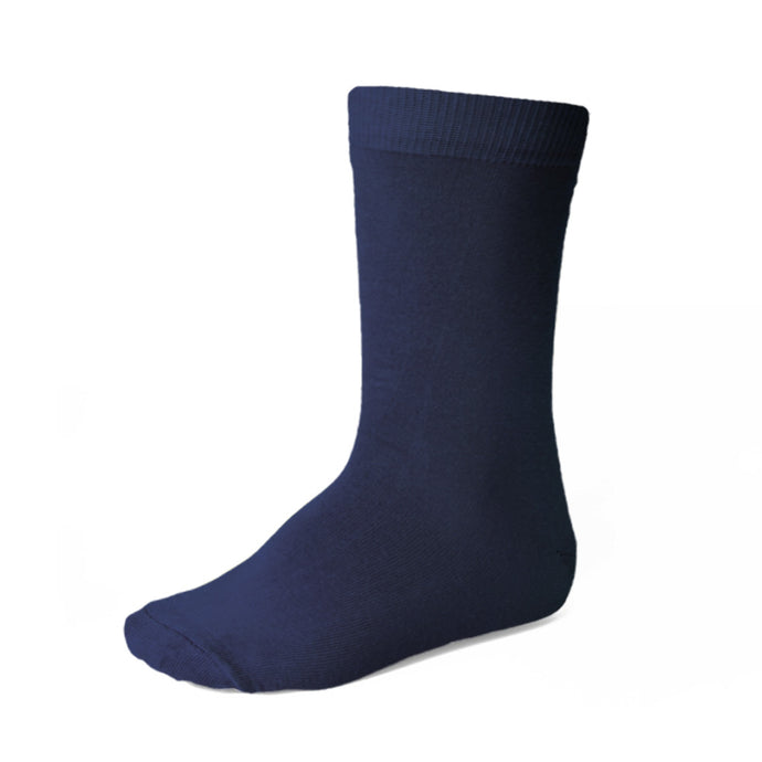 Boys' navy blue crew socks
