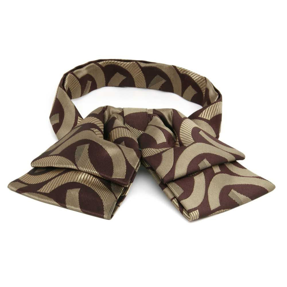 Chocolate Brown Kay Link Pattern Floppy Bow Tie