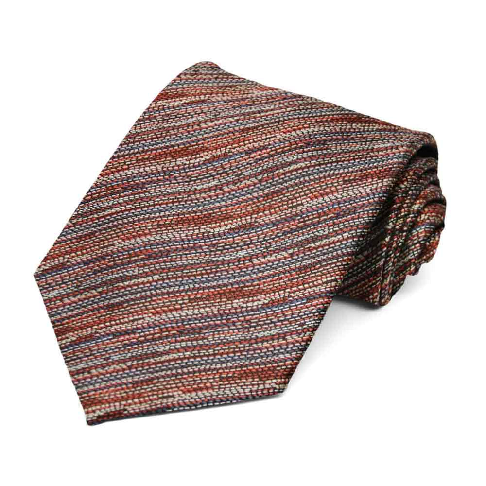 Cinnamon Lionel Striped Necktie