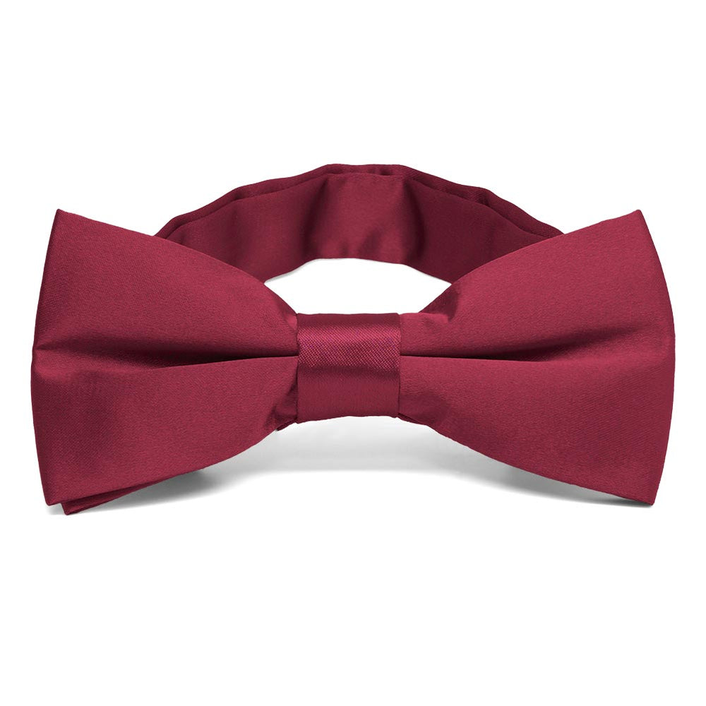Claret Band Collar Bow Tie