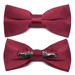 Claret Clip-On Bow Tie