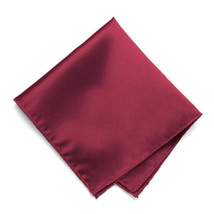 Claret Solid Color Pocket Square