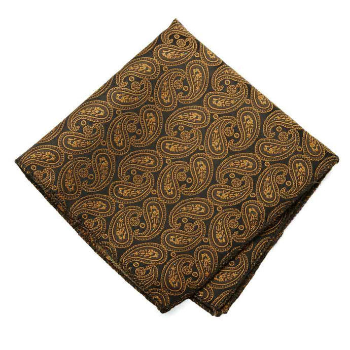 Cocoa Brown Darlene Paisley Pocket Square
