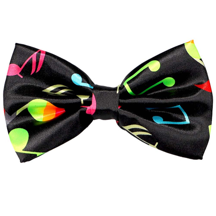Neon Music Note Bow Tie