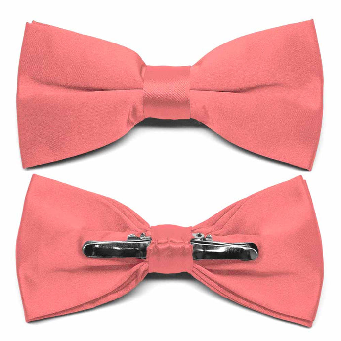 Coral Clip-On Bow Tie