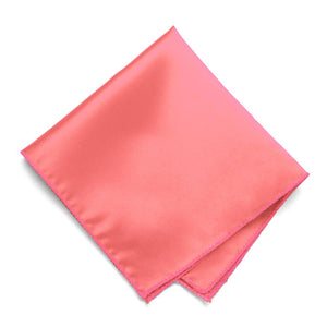 Coral Solid Color Pocket Square