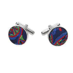 Large view of men's fabric cufflinks
